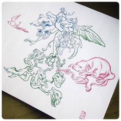 Posted by jawcooper : If you can make heads or tails... or frog legs... of this sketch then you deserve an award. #sketchvomit #JAWCooper #zigcleancolor #inktober #inktober2015