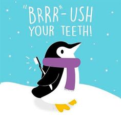 """Don't forget to """"Brrr""""-ush your teeth during this wintry weekend! #marksdilldds"""