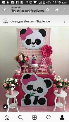 Panda Themed Party, Panda Birthday Party, Panda Party, Bear Party, Baby Birthday, First Birthday Parties, Birthday Party Decorations, First Birthdays, Panda Decorations