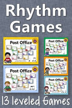Fun elementary music rhythm games! Excellent resource and easy activity to add to lesson plans! Great informal assessment tool!
