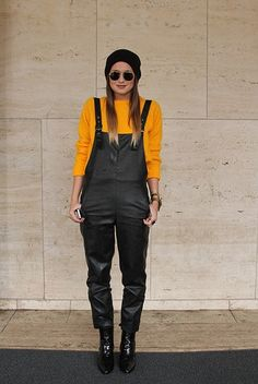 Street Style From New York Fashion Week  Overalls is our #Fall2013 number one Trend Watch