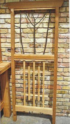 Rough sawn cedar trellis