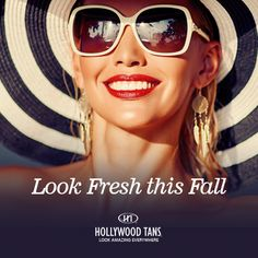 Look Fresh This Fall during our September 2016 promotion. Ask your Hollywood Tans' Sales Associate for more details.