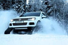 Transformaram um Volkswagen Touareg em uma máquina feita para correr no gelo; confira um teaser.