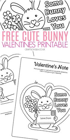 Cute Bunny Valentines Printable for Kids Free It is possible to obviously start out decorating your house Anytime but Particula Valentine's Day Crafts For Kids, Valentine Crafts For Kids, Valentines Gifts For Boyfriend, Toddler Crafts, Holiday Crafts, Valentine Activities, Preschool Activities, Some Bunny Loves You, Valentine's Cards For Kids