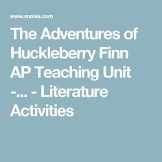 "an analysis of the satire in the adventures of huckleberry finn a novel by mark twain Mark twain (1835-1910) was an american author and humorist his book, the  adventures of huckleberry finn , published in 1885, was called the ""great."