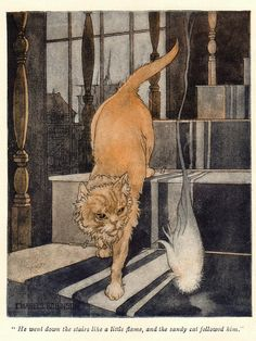 """Illustration by Charles Robinson for """"The Graphic"""" magazine (1914)"""
