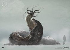 ArtStation - chthonian and Dholes, Loïc Muzy Alien Creatures, Fantasy Creatures, Mythical Creatures, Fantasy Monster, Monster Art, Creature Feature, Creature Design, Call Of Cthulhu Rpg, Lovecraftian Horror
