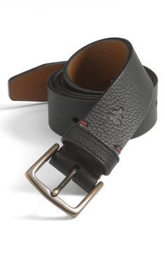 Trask 'Elkhorn' Leather Belt | Nordstrom