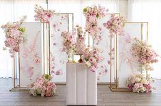 blush pink wedding backdrop2 #weddings #wedding #pinkweddings #dpf #weddingcolors