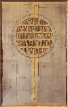Byzantine-style letters on gold. This text is from Song of Solomon: 8: 6-7. Calligraphy, Georgia Angelopoulos