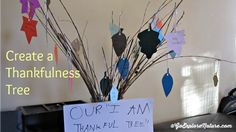 What are your kiddos thankful for this Thanksgiving season? Create your own Thankfulness Tree to help kids express what they appreciate in their lives.