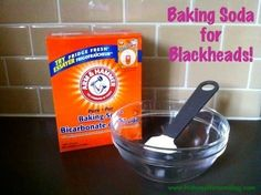 Baking Soda Blackhead Remover: Splash face with warm water to open pores, Mix baking soda & water to form paste, Apply to face, Leave on at least 1min, Gently massage paste into skin, Rinse off with warm water, Give face one final splash with cold water.