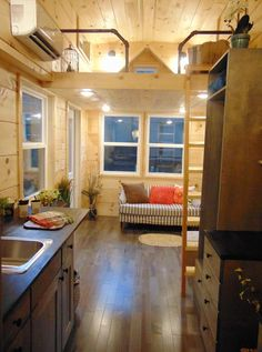 An oscillating fan, plumbing fixtures, and light fixtures were all picked out by the client and shipped to Incredible Tiny Homes so they could install it.