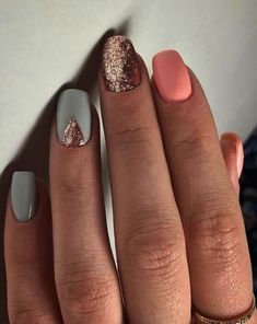 61 Summer Nail Color Ideas For Exceptional Look 2019 Are you looking for summer nails colors designs that are excellent for this summer? See our collection full of cute summer nails colors ideas and get inspired! Colorful Nail Designs, Beautiful Nail Designs, Nail Art Designs, Nails Design, Nail Designs Spring, Spring Design, Salon Design, Nail Designs With Glitter, Summer Manicure Designs