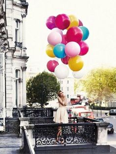 Balloons in the city.