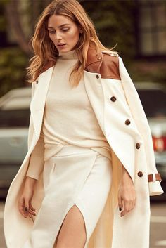 Olivia Palermo wearing Banana Republic Heritage Ribbed Turtleneck