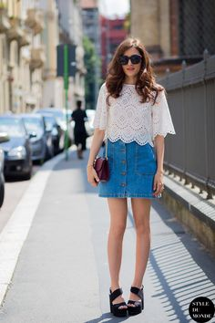 #EleonoraCarisi looking fab in Milan.