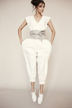ORIGAMI JUMPSUIT WITH OBI BELT | electric feathers | Fashion ...