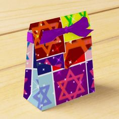Jewish Holiday Party Favor Boxes - Judaica Art