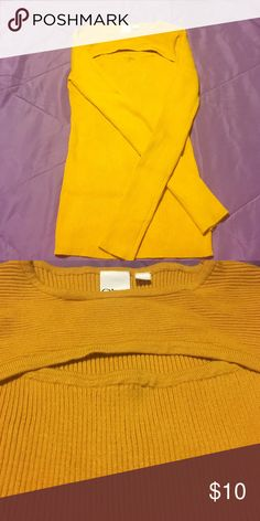 Yellow Sweater From Body Central. Cleavage area expands when on. Tops Blouses