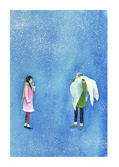 【擁抱】  我終於明白 我的寒冷是因為需要妳 只有妳的擁抱 才是我真正的溫暖  《幸福練習簿》p.14-15