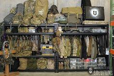military gear storage