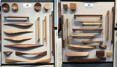 wooden drawer and cabinet pulls by Manzoni