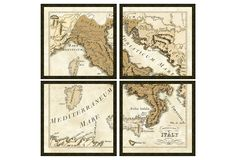 One Kings Lane - The Dramatic Wall - Sepia Italy in Four Pieces