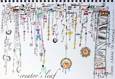 Another lovely example of Zenspirations dangle designs from  www.thecreatorsleaf.blogspot.com