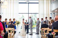 {{Summer wedding ceremony at Greenhouse Loft in Chicago.}}  Photography by Greenhouse Loft Photography, greenhouseloft.com    Flowers by Pollen, pollenfloraldesign.com