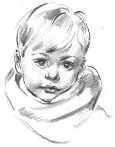 How to draw a portait of a young boy | Draw children