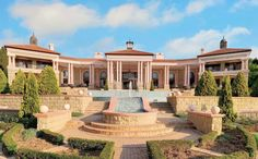 This incredible mega mansion is located in Sandhurst, Sandton, Gauteng, Johannesburg, South Africa. Mega Mansions, Rich Home, South Africa, The Incredibles, Exterior, Homes, House Styles, Houses, Home