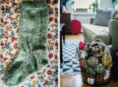 Love the yarn basket
