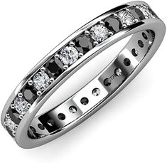 Your Personal Ejeweler..Honour your Commitment with the Gorgeous Eternity Band where shimmering Prong Set Black and White Diamond completely encircle the band indicating that your Love has no end. #Trijewels #Ejeweler #Eternity #Diamond #BlackDiamond #EternityRing #WeddingBand #EternityBand #Ring #WomensRing #Gift #Love #Wedding #Engagement #Womenjewelry #JewelryBuyers #AnniversaryRing #Wedding #YellowGold #WhiteGold #RoseGold #StackableRing #Gold #Stackable Wedding Engagement, Wedding Bands, Prong Set, Eternity Bands, Cartier Love Bracelet, Anniversary Rings, Black Diamond, White Gold, Women Jewelry