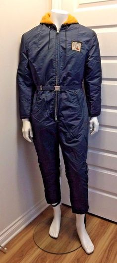 Vintage Insulated Arctic Sub-Zero Skidoo Snowmobile Mens Snowsuit Canadian Made  #YWSportswear