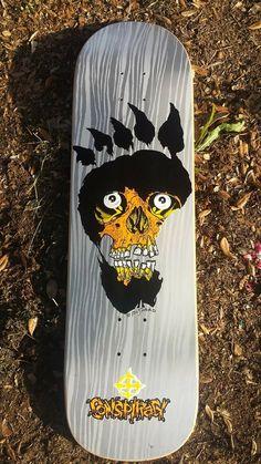 Thrasher Magazine, Skate Art, Skateboard Design, Board Art, Skates, Conspiracy, Skateboards, Punk Rock, Psychedelic