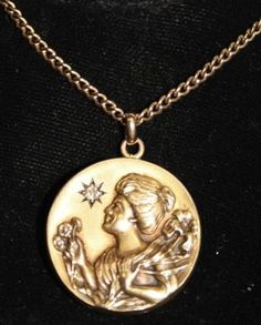 """Thou seemest to my fancy, singing here and gathering flowers, as that fair maiden when She lost the Spring...Excerpt of #""""Matilda Gathering Flowers"""" by #Percy #Bysshe #Shelley  A #gold #pendant with a #14-K Gold chain. For more information see the #Jewelry Counter for dealer J200AA on the third floor of #ShowplaceAntiqueandDesignCenter.  http://nyshowplace.com/Showplace-on-3/1_186_menu=28_object=1304.aspx"""