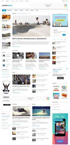 SuperNews Responsive WordPress Theme