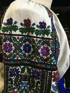 Ukrainian Embroidered Women's blouse (Vyshyvanka) from the Borshchiv region.