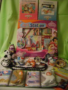 TOY Junk Drawer LOT TY Beanie Babys plush animal Hello Kitty Disney Princess Art