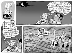 Mice Cartoon: Pray for Jakarta (Kompas Minggu 20.01.13)