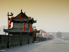 City Wall, Xian, Shaanxi, China.