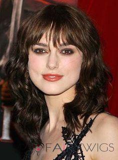 Custom Super Charming Cheap Human Hair Sepia Medium Wigs for Women