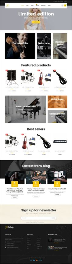 Melody is a clean and elegant design responsive #WordPress theme for #musical instruments, music, #band and clubs website download now➩   https://themeforest.net/item/melody-wordpress-theme-for-musical-instruments-music-bandclub/18730814?ref=Datasata