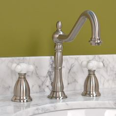 Thames Widespread Lavatory Set by Strom Plumbing - Porcelain Cross ...