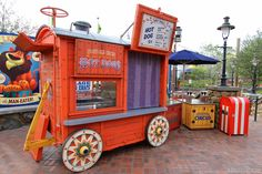 .hot dog stand