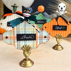 There's a place for you at the table! 🎃 DIY details at brendawalton.com ✂️ #halloween #papercraft #handmade #entertaining #diy #vintage