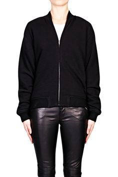 Ottoman Double Knit Bomber - BLACK | T BY ALEXANDER WANG
