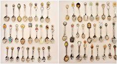 Souvenir Spoon Vintage Collection Lot 53 Asst Silverplate Hummel Figural Dangles #Various
